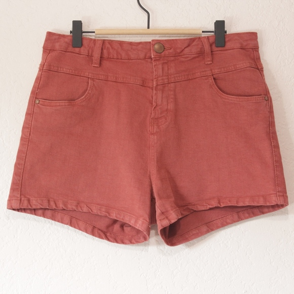 Cotton On Pants - Cotton On Cider Red Denim Shorts